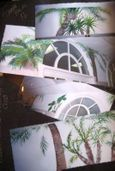 3 palm tree murals