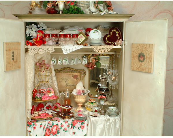 my treat cabinet in romantic country magazine with an article i wrote