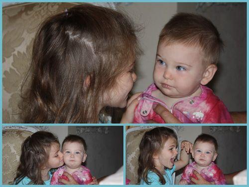 1st time to babysit both girls