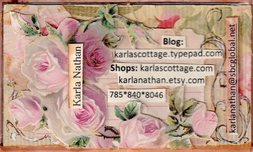 Karlas cottage collage business cards collage business cards colourmoves