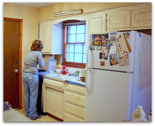 Karla S Cottage The Short Cut Way To Repaint Kitchen Cabinets With