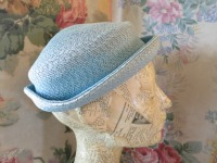 Pale blue hat