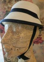 Navy adn white hat