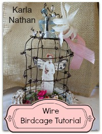Birdcage cloche button