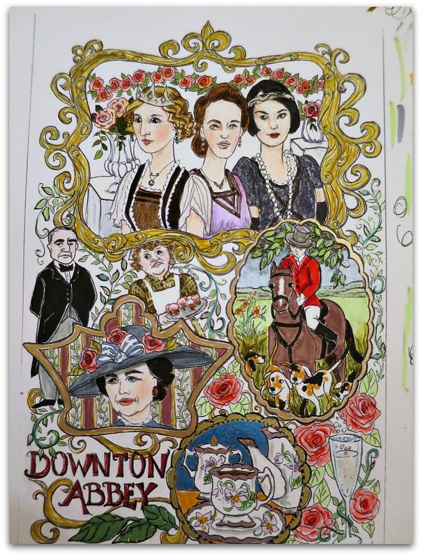 Coloring page downton sisters 040