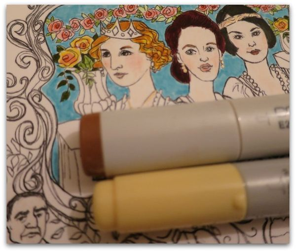 Coloring page downton sisters 018