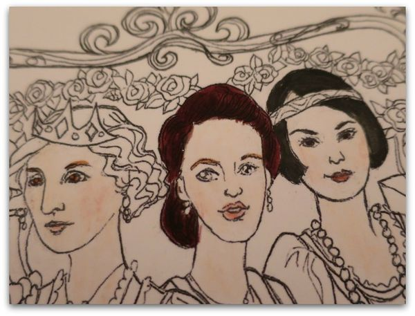 Coloring page downton sisters 015