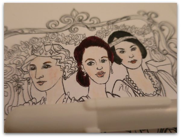 Coloring page downton sisters 017