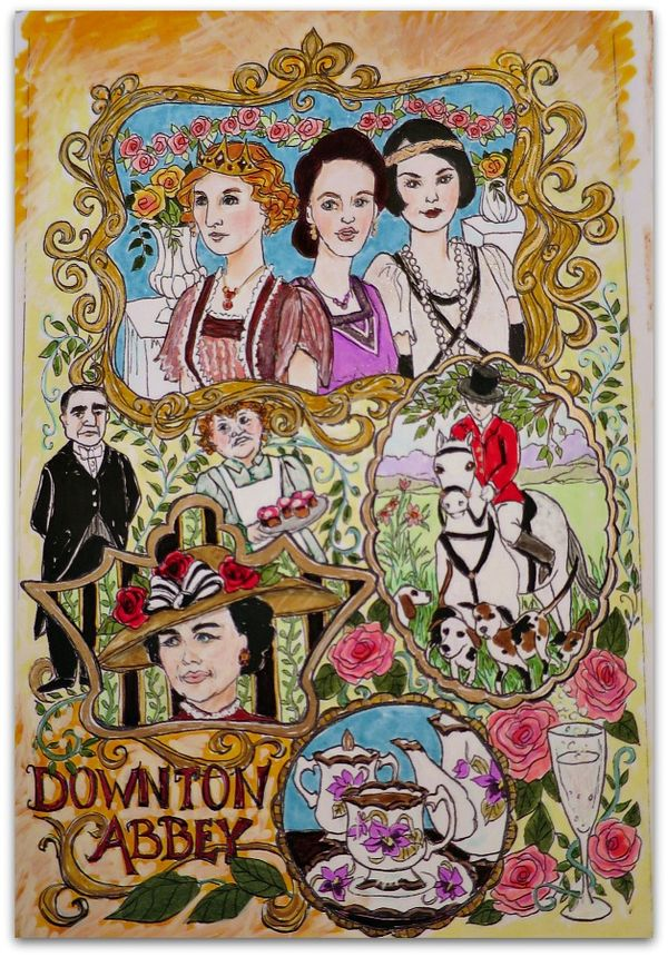 Coloring page downton sisters 041
