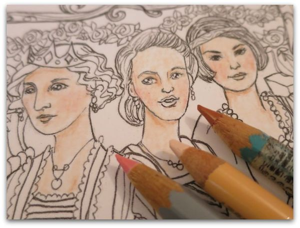 Coloring page downton sisters 027
