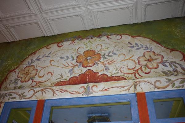 Above the door at Prairie Pond