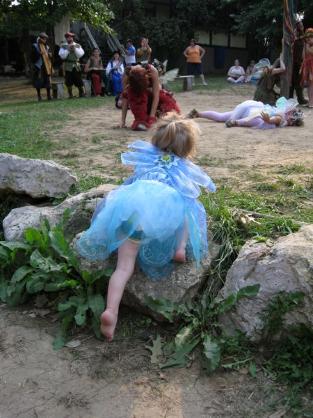 Joining the fairies to dance